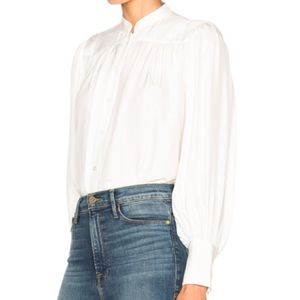 Frame Shirt London Los Angeles Ivory 100% Silk M